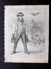 E. C. Mountfort - Dart 1880's Cartoon. Discord, Confusion, Beer & Liberalism